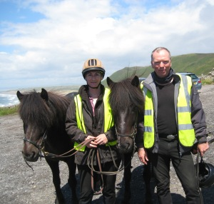 Gydja, Catherine, Fleygur and Roger at Rhossili
