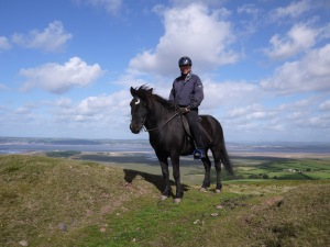 Fleygur and Roger on Llanmadoc Hill