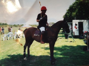 Roger and Smurf the Polo Pony
